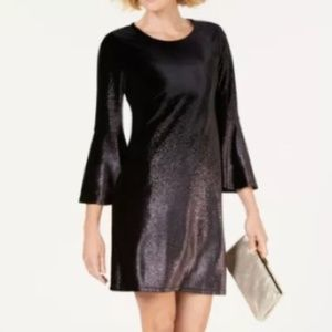NWT Metallic Black Velvet Glitter Cocktail Dress